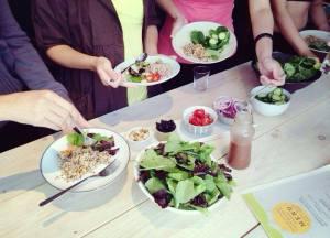 Organic salad with homemade dressing